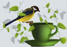 Titmouse an ornament Royalty Free Stock Photography