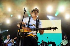 Tito Paris Concert, étape de fond de drapeau du Cap Vert image stock