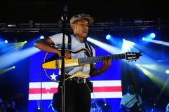 Tito Paris Concert etapp för Kap Verdeflaggabakgrund Fotografering för Bildbyråer
