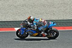 Tito Rabat in the circuit of Catalonia Stock Images