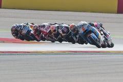 Tito Rabat Moto2 Grand Prix Movistar Aragà ³ ν Στοκ Φωτογραφίες