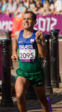 Tito Sena wint marathon Stock Foto