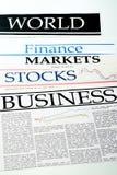 Titoli dei giornali circa l'affare Immagine Stock