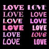 Titoli di amore illustrazione di stock