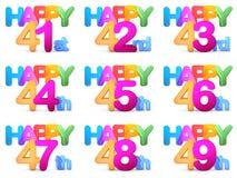 Titoli di buon compleanno Fotografia Stock
