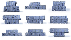 Titoli di campagna di vendite della raccolta dei jeans Fotografia Stock