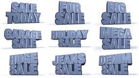 Titoli di campagna di vendite della raccolta dei jeans Fotografie Stock Libere da Diritti