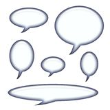 Titoli e bolle di discorso isolate Immagini Stock