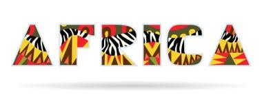 Titolo decorato dell'Africa illustrazione di stock