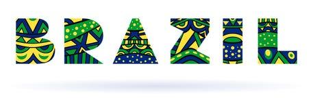 Titolo del Brasile illustrazione di stock