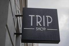 Titolo del negozio di viaggio immagini stock libere da diritti