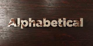 - Titolo di legno grungy sull'acero - 3D alfabetico ha reso l'immagine di riserva libera della sovranità illustrazione di stock