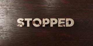 - Titolo di legno grungy sull'acero - 3D fermato ha reso l'immagine di riserva libera della sovranità illustrazione di stock