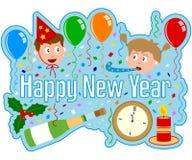 Titolo di nuovo anno felice illustrazione di stock
