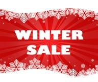 Titolo di vendita di inverno illustrazione di stock