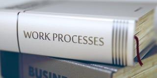 Titolo sulla spina dorsale - processi del libro del lavoro 3d Fotografia Stock Libera da Diritti