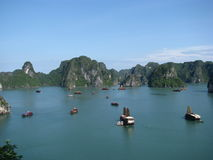Titop Island View 3. Photo of the view from the top of Titop Island in Halong Bay vietnam Royalty Free Stock Photo