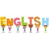 Titre anglais et enfants illustration libre de droits
