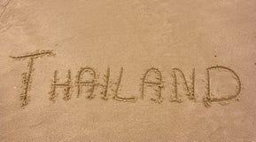 Titre d'écriture de sable de la Thaïlande Photos libres de droits