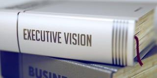 Titre de livre de la vision exécutive 3d Image libre de droits