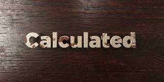 - Titre en bois sale sur l'érable - 3D calculé a rendu l'image courante gratuite de redevance illustration stock