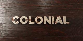- Titre en bois sale sur l'érable - 3D colonial a rendu l'image courante gratuite de redevance illustration libre de droits