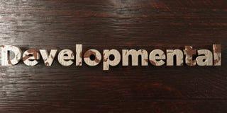 - Titre en bois sale sur l'érable - 3D développemental a rendu l'image courante gratuite de redevance illustration stock