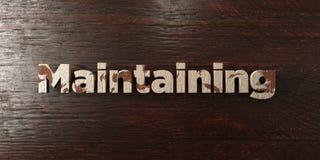 - Titre en bois sale sur l'érable - 3D de maintien a rendu l'image courante gratuite de redevance Images stock