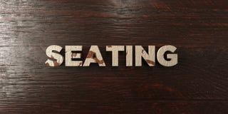 - Titre en bois sale sur l'érable - 3D de places assises a rendu l'image courante gratuite de redevance illustration libre de droits
