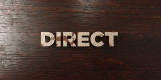 - Titre en bois sale sur l'érable - 3D direct a rendu l'image courante gratuite de redevance Images libres de droits
