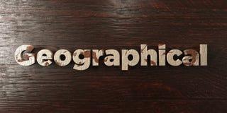 - Titre en bois sale sur l'érable - 3D géographique a rendu l'image courante gratuite de redevance illustration de vecteur