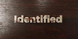 - Titre en bois sale sur l'érable - 3D identifié a rendu l'image courante gratuite de redevance illustration de vecteur