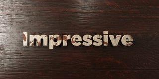 - Titre en bois sale sur l'érable - 3D impressionnant a rendu l'image courante gratuite de redevance illustration stock