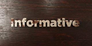 - Titre en bois sale sur l'érable - 3D instructif a rendu l'image courante gratuite de redevance illustration libre de droits