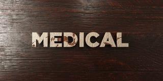 - Titre en bois sale sur l'érable - 3D médical a rendu l'image courante gratuite de redevance Image stock