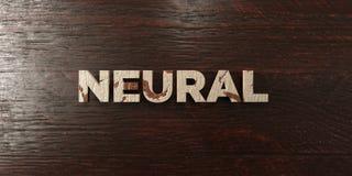 - Titre en bois sale sur l'érable - 3D neural a rendu l'image courante gratuite de redevance Photographie stock