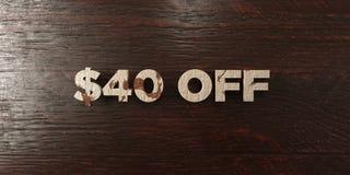 $40 - titre en bois sale sur l'érable - 3D ont rendu l'image courante gratuite de redevance Photo stock