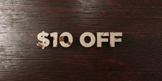 $10 - titre en bois sale sur l'érable - 3D ont rendu l'image courante gratuite de redevance illustration stock