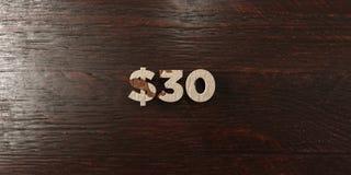 $30 - titre en bois sale sur l'érable - 3D ont rendu l'image courante gratuite de redevance illustration stock