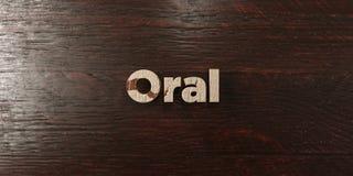 - Titre en bois sale sur l'érable - 3D oral a rendu l'image courante gratuite de redevance illustration libre de droits
