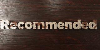 - Titre en bois sale sur l'érable - 3D recommandé a rendu l'image courante gratuite de redevance illustration de vecteur