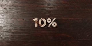 10% - titre en bois sale sur l'érable - 3D a rendu l'image courante gratuite de redevance illustration stock