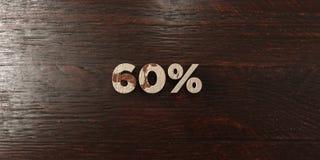 60% - titre en bois sale sur l'érable - 3D a rendu l'image courante gratuite de redevance Images stock