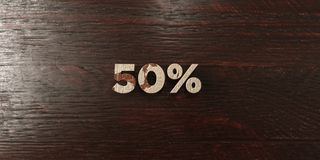 50% - titre en bois sale sur l'érable - 3D a rendu l'image courante gratuite de redevance Photographie stock