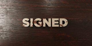 - Titre en bois sale sur l'érable - 3D signé a rendu l'image courante gratuite de redevance Photographie stock