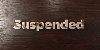 - Titre en bois sale sur l'érable - 3D suspendu a rendu l'image courante gratuite de redevance Photo libre de droits