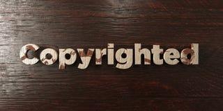 - Titre en bois sale sur l'érable - 3D garanti les droits d'auteur a rendu l'image courante gratuite de redevance Photos libres de droits