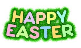 Titre heureux de Pâques Photos stock