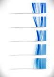 Titres de bas de page liquides d'en-têtes d'écoulement d'eau de bruissement réglés Images stock