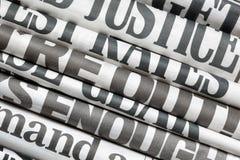 Titres de journal Images libres de droits